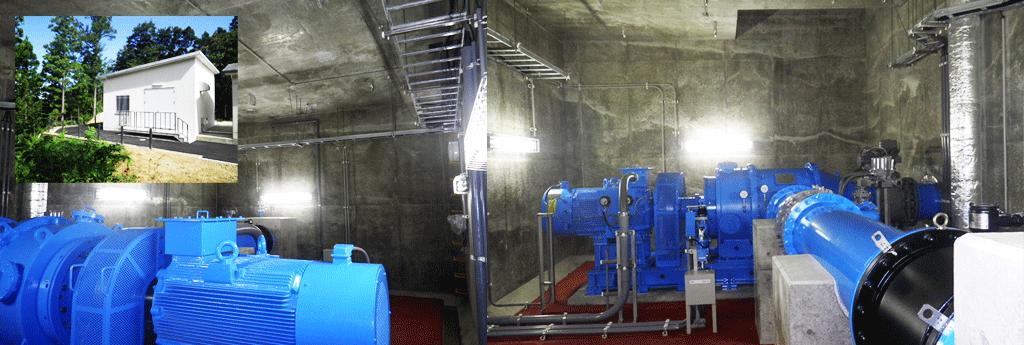 鶴岡量水所小水力発電設備-土
